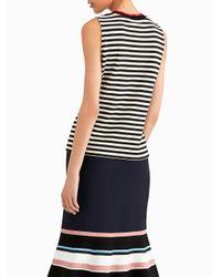Jason Wu - Multicolor Stripe Jersey Top With Contrast Crew Neck - Lyst