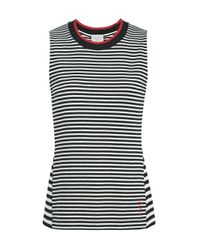 Jason Wu - Multicolor Stripe Jersey Top With Contrast Crew Neck - Lyst