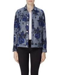 J Brand | Blue Reversible Cyra Oversize Jacket In Corsage | Lyst