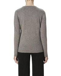 J Brand - Gray Cashmere Pretty Baby Jumper In Derby / Calico - Lyst
