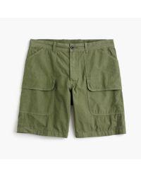 J.Crew - Green Wallace & Barnes Garment-dyed Canvas Barn Short for Men - Lyst