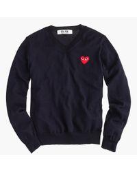 J.Crew | Blue Play Comme Des Garçons V-neck Sweater | Lyst