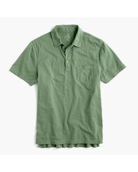 J.Crew   Green Slim Broken-in Pocket Polo Shirt for Men   Lyst