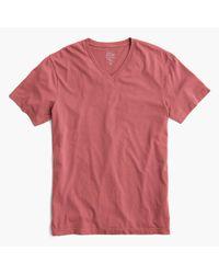 J.Crew   Red Slim Broken-in V-neck T-shirt for Men   Lyst