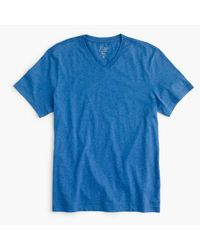 J.Crew | Blue Slim Broken-in V-neck T-shirt for Men | Lyst