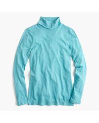 J.Crew | Blue Tissue Turtleneck T-shirt | Lyst