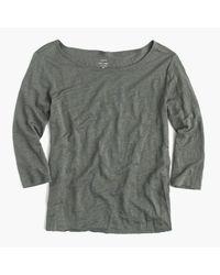 J.Crew | Green Linen Boatneck T-shirt | Lyst