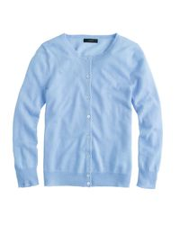 J.Crew | Blue Italian Featherweight Cashmere Cardigan Sweater | Lyst