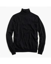 J.Crew | Black Merino Wool Turtleneck Sweater for Men | Lyst
