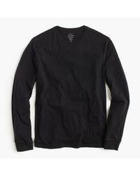 J.Crew - Black Tall Broken-in Long-sleeve T-shirt for Men - Lyst