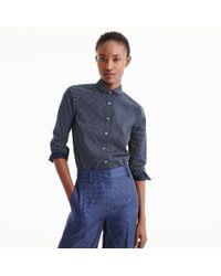 J.Crew | Blue Perfect Shirt In Polka Dot for Men | Lyst