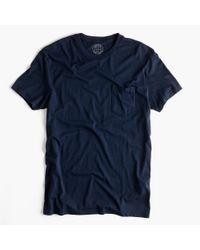J.Crew   Blue Slim Broken-in Pocket T-shirt for Men   Lyst