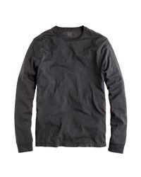 J.Crew - Black Slim Broken-in Long-sleeve T-shirt for Men - Lyst