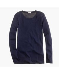 J.Crew | Blue Tissue Long-sleeve T-shirt | Lyst