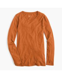 J.Crew - Red Tissue Long-sleeve T-shirt - Lyst
