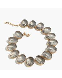 J.Crew | Metallic Oversized Gem Necklace | Lyst