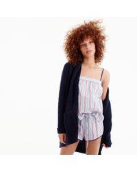J.Crew - Blue Candy Stripe Short Pajamas - Lyst