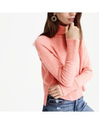J.Crew - Multicolor Turtleneck Sweater With Side Slits In Supersoft Yarn - Lyst
