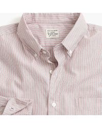 J.Crew - Multicolor Tall Stretch Secret Wash Shirt In Mixed Stripe for Men - Lyst