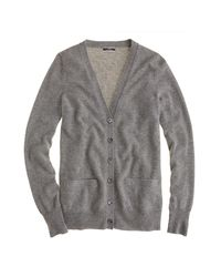 J.Crew | Gray Collection Cashmere Boyfriend Cardigan Sweater | Lyst