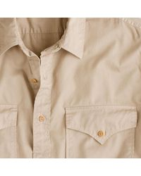 J.Crew | Natural Wallace & Barnes Makin Island Garment-dyed Chino Shirt for Men | Lyst