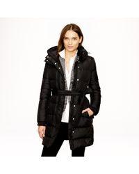 J.Crew | Brown Wintress Puffer Coat | Lyst