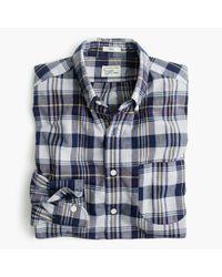 J.Crew - Blue Madras Shirt In Ocean Sun for Men - Lyst