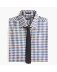 J.Crew - Blue Ludlow Slim-fit Spread-collar Shirt In Microgingham for Men - Lyst