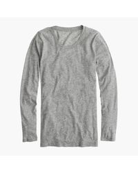 J.Crew | Gray Vintage Cotton Long-sleeve T-shirt | Lyst