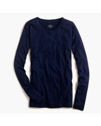 J.Crew   Blue Vintage Cotton Long-sleeve T-shirt   Lyst