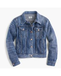 J.Crew - Blue Denim Jacket  - Lyst