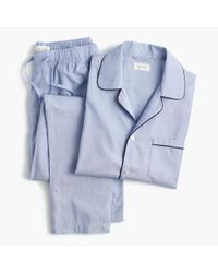 J.Crew - Blue Cotton Poplin Pajama Set for Men - Lyst