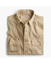 J.Crew - Natural Wallace & Barnes Makin Island Garment-dyed Chino Shirt for Men - Lyst