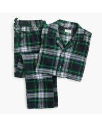 J.Crew - Pajama Set In Green Tartan for Men - Lyst