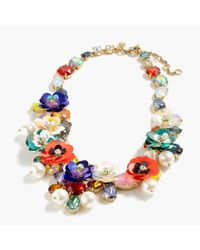 J.Crew - Multicolor Crystal And Sequin Wreath Necklace - Lyst