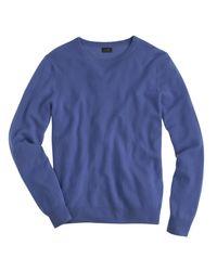 J.Crew - Blue Italian Cashmere Crewneck Sweater for Men - Lyst