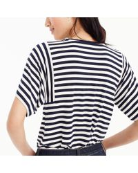 J.Crew - Blue Mixed Stripe T-shirt - Lyst