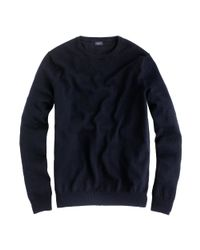 J.Crew | Black Slim Cotton-cashmere Crewneck Sweater for Men | Lyst