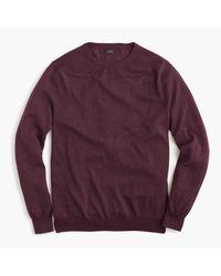 J.Crew | Purple Slim Merino Wool Crewneck Sweater for Men | Lyst