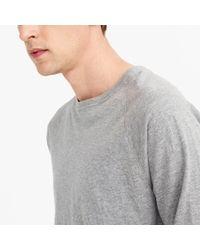 J.Crew - Gray Tall Slub Jersey Long-sleeve T-shirt for Men - Lyst