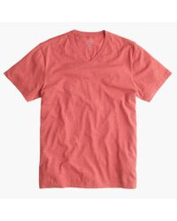 J.Crew - Orange Slim Broken-In V-Neck Tee for Men - Lyst
