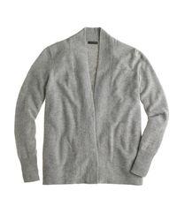 J.Crew - Gray Italian Cashmere Long Open Cardigan Sweater - Lyst