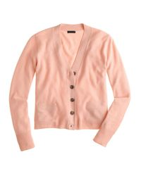 J.Crew - Purple Collection Cashmere V-neck Cardigan Sweater - Lyst