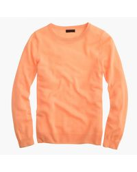 J.Crew | Orange Italian Featherweight Cashmere Long-sleeve T-shirt | Lyst