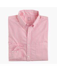 J.Crew - Pink Slim Lightweight Secret Wash Shirt In Gingham for Men - Lyst