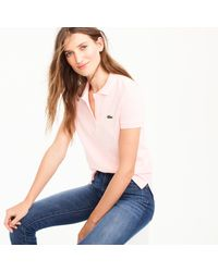 J.Crew | Pink Lacoste Polo Shirt for Men | Lyst