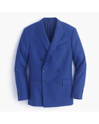 J.Crew Multicolor Ludlow Double-breasted Suit Jacket In Heathered Italian Wool Flannel for men