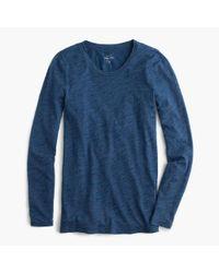 J.Crew | Blue Indigo Vintage Cotton Long-sleeve T-shirt | Lyst