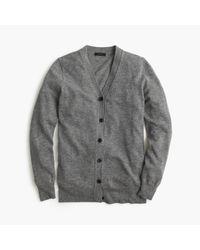 J.Crew | Gray Classic V-neck Cardigan Sweater | Lyst
