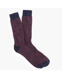 J.Crew | Blue Talon Stitch Socks for Men | Lyst